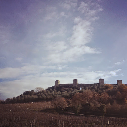 Monteriggioni's towers: visible from the Florence - Siena highway