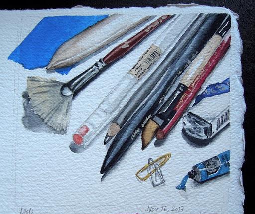 Artist Lisa Hsia's tools