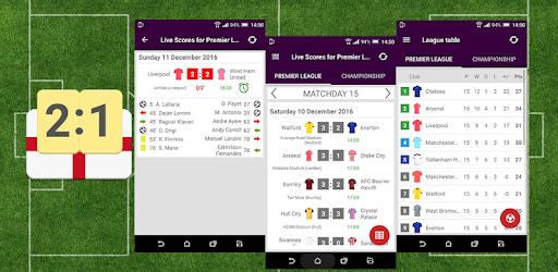 Live Scores For Premier League 20192020 Apps On Google Play