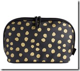 John Lewis black and gold cosmetics bag