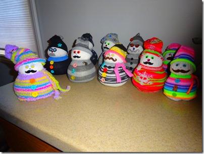 Marsha's snowmen