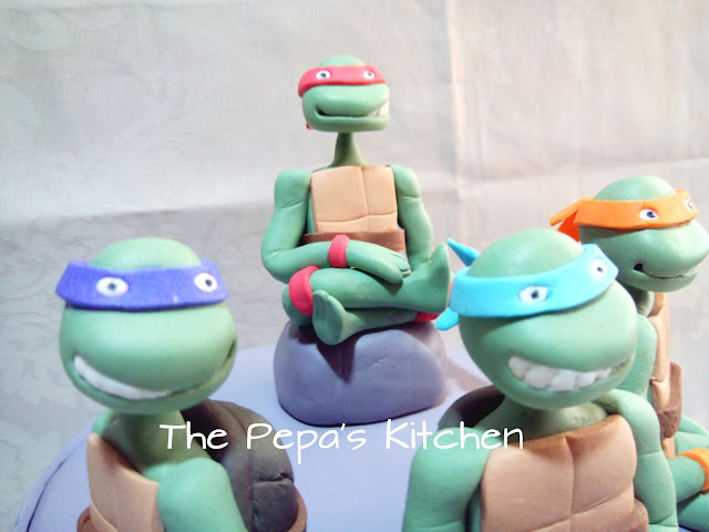 Tarta Fondant Las Tortugas Ninja