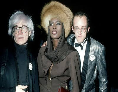 Grace Jones Andy Warhol Keith Haring