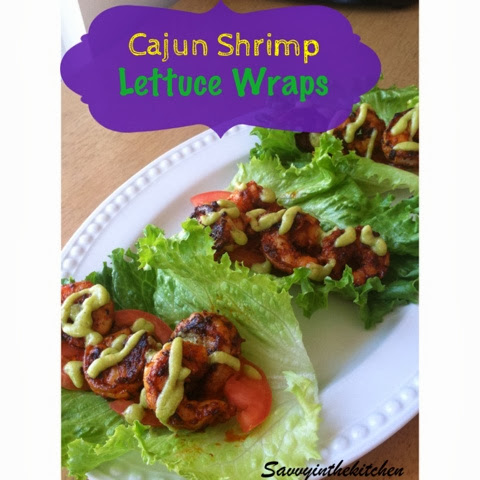 Cajun Mardi Gras Lettuce Shrimp Wraps Savvy in the kitchen