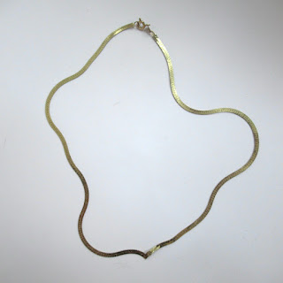 14K Gold DAMAGED Flat Chain Necklace