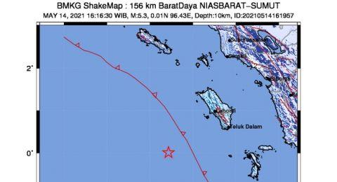 Gempa Nias Bermagnitudo 6,7 Sudah Diikuti 13 Gempa Susulan