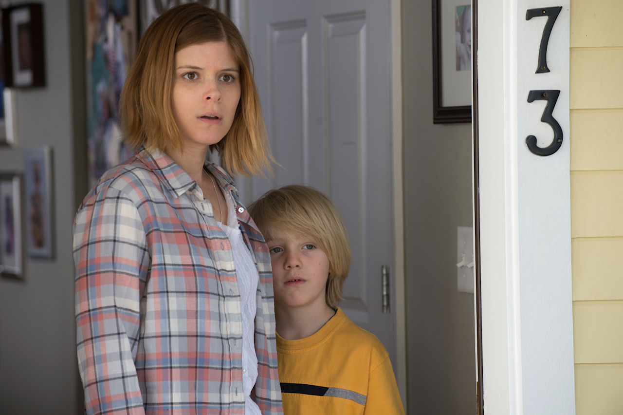Natalie Drummer (Kate Mara) and Jonathan (Charlie Shotwell) in MAN DOWN. (Photo courtesy of Lionsgate Premiere).