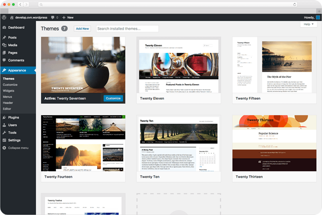 wordpress-screen-themes