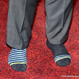 WWW.ENTSIMAGES.COM -    Kevin Jones showed off his odd socks in support of odd socks charity   at      THE UK PREMIERE OF (JACK TO A KING) THE SWANSEA STORY at EMPIRE, LEICESTER SQUARE London September 12th 2014.The movie of Swansea City's rise from near extinction to the top of the Premier League                                                 Photo Mobis Photos/OIC 0203 174 1069