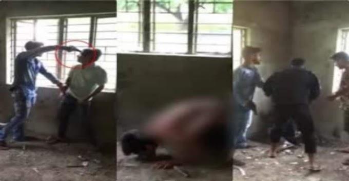 बिहार में क्रूरता की सारी हद पर: युवक को गन पॉइंट पर नंगा कर बेल्ट और लातों से पीटा, फिर थूक चटवाया