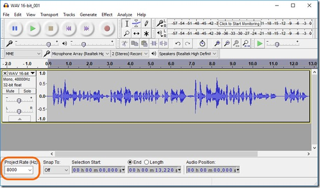 Bikram's Blog: WAV to 4Bit Mono conversion