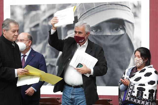 """Necesario, reconocer """"Acuerdos de San Andrés Larráinzar"""": José Narro Céspedes."""