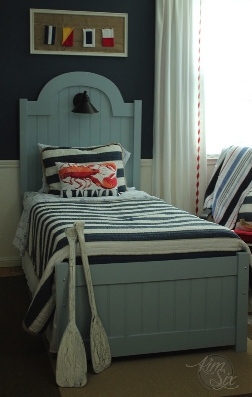 DIY beadboard twin bed