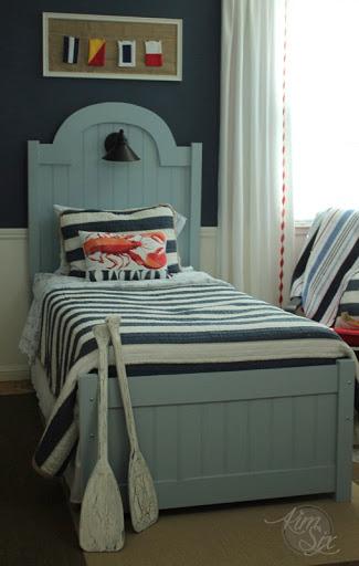 Nice DIY beadboard twin bed