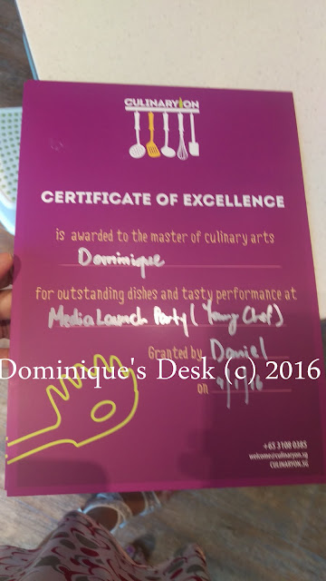 The certificate that all of us received