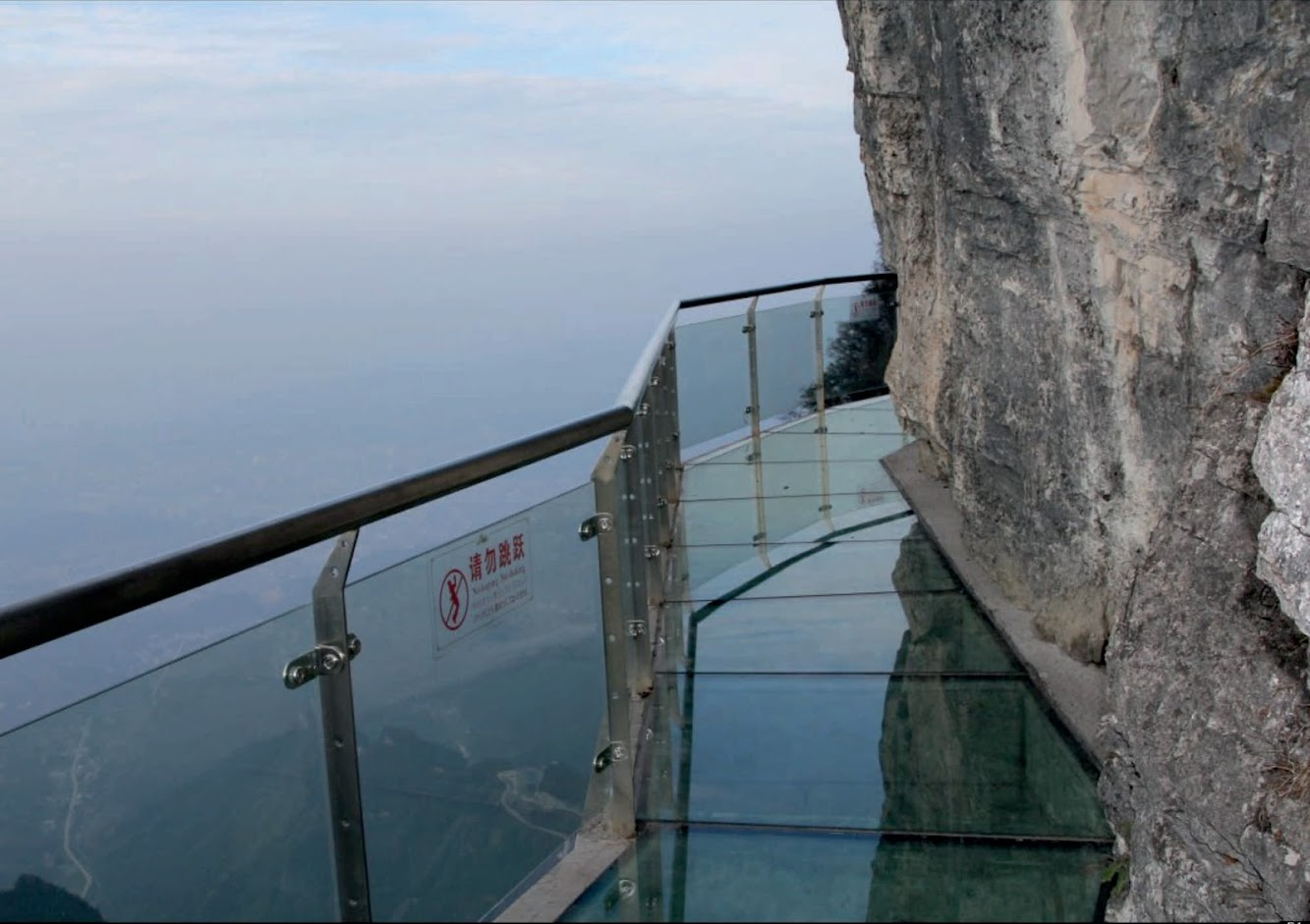 Zhangjiajie, Hunan, Cina: Skywalk On Tianmen Mountain