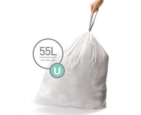 Avfallspåsar till Simplehuman 3 x pack med 20 påsar(60-påsar)  TYP U