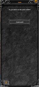 Создание гильии (шаг 1). Нажмите кнопку Create Guild