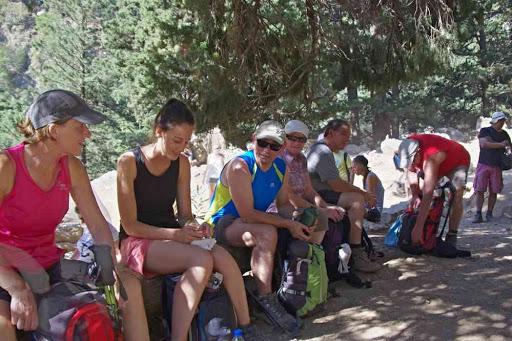 Pause café frappé dans les gorges de Samaria (Φαράγγι Σαμαριάς).