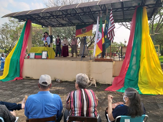 Cristal do Sul realiza evento em homenagem ao Dia do Gaúcho e homenageia família de Ex-combatente da Segunda Guerra Mundial.