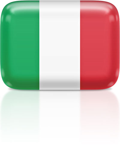 Italian flag clipart rectangular