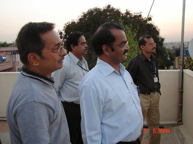 Demonstration of Amateur Radio Satellite communication to Mr Annadurai and Mr Raghavamurthy - DSC00130.JPG