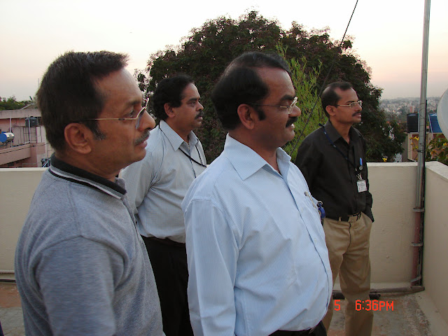 Demonstration of Amateur Radio Satellite communication to Mr Annadurai and Mr Raghavamurthy - DSC00130.JPG
