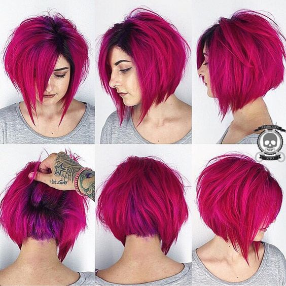 Hair:short hairstyles with different colors for 2018 12
