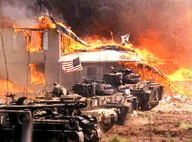 Burning of the Waco Branch Davidian compound