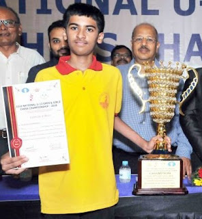 FM Aaryan Varshney 17th position online chess tournament