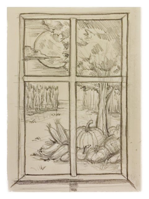 22 #window #view #sketch #doodle #harvest #fall #autumn #draw #daily # drawing #pencil #mikephillipsart  sc 1 st  Mikeu0027s Art Blog & Mikeu0027s Art Blog: 22 #window #view #sketch #doodle #harvest #fall ... pezcame.com