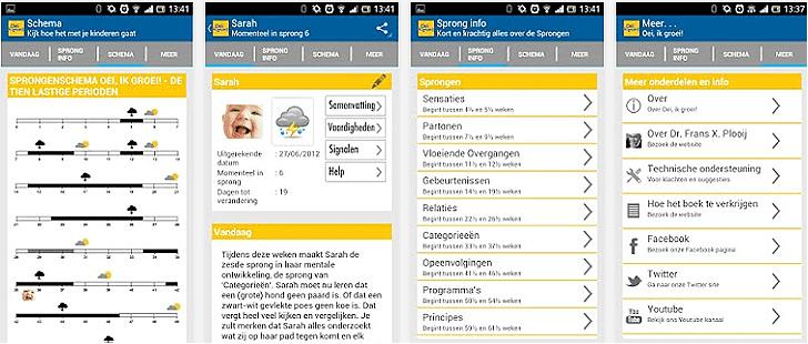 Oei, ik Groei App voor Android, iPhone en iPad