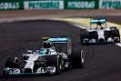 Nico Rosberg leads Lewis Hamilton, Mercedes W05