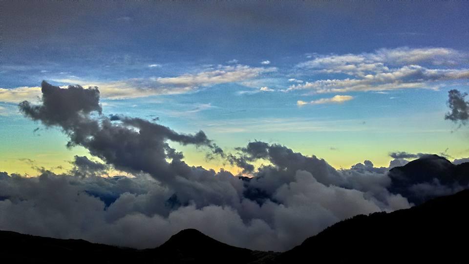 山嵐 夏季銀河 武嶺 日出