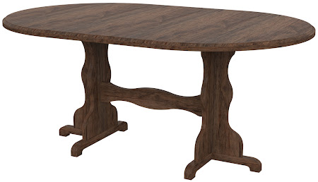 Colonial Round Conference Table in Weathered Maple