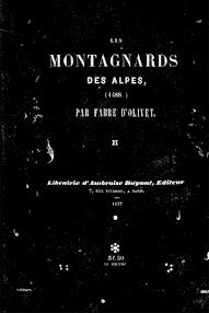Cover of Fabre d'Olivet's Book Les Montagnards des Alpes II (1837,in French)