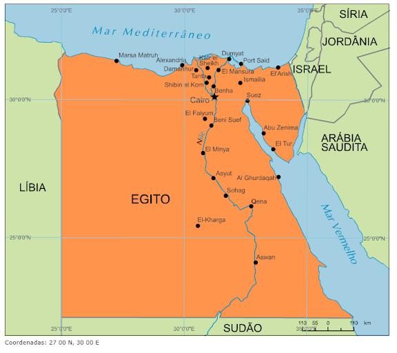 mapa do egito Blog de Geografia: Mapa do Egito mapa do egito