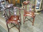Unique & Ornate Corner chairs $450 pair