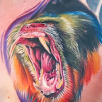 angry chimpanzee - tattoo meanings