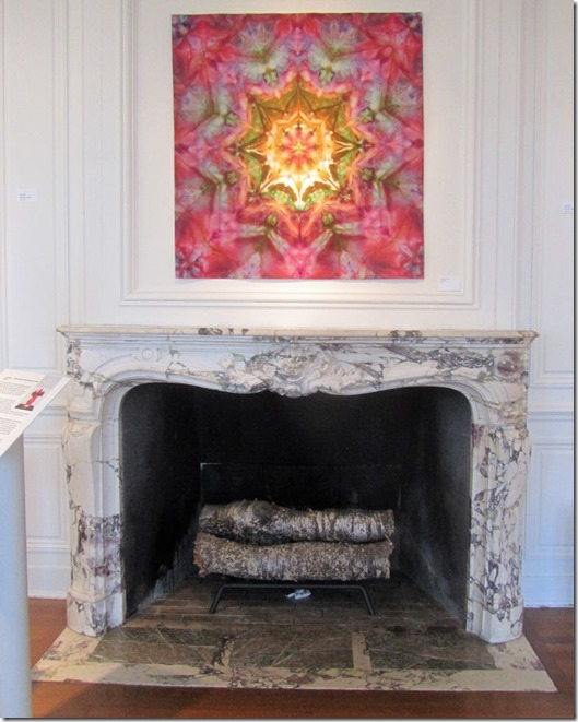 Jewel box over fireplace
