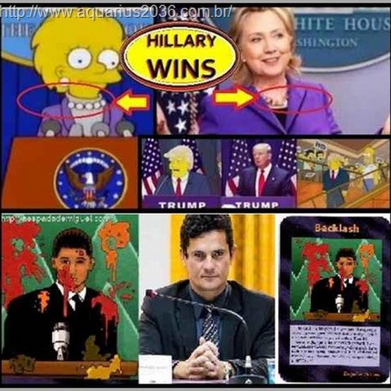 """Previsões """"Simpsons"""" e """"Cartas Illuminati"""" falam de Sergio Moro, Hillary e Trump"""