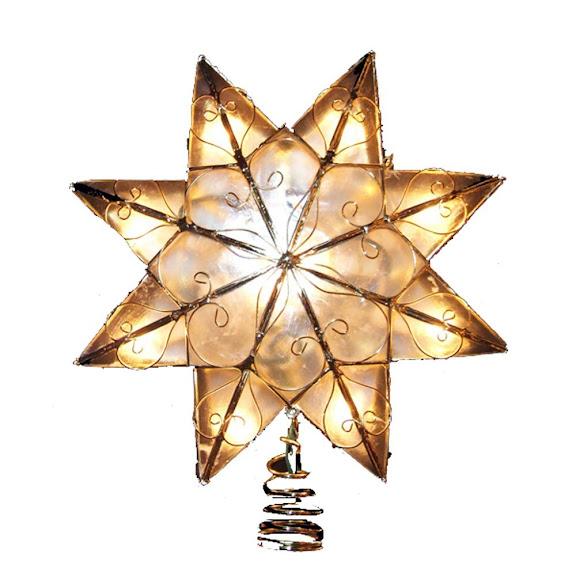 Kurt Adler Indoor Capiz Star Treetop