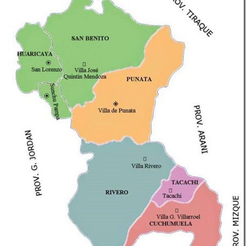 Provincia Punata (1872): departamento de Cochabamba (Bolivia)