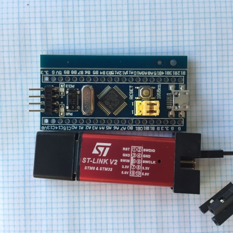 STM32F103 Blue Pill board and ST-LINK V2 debug tool