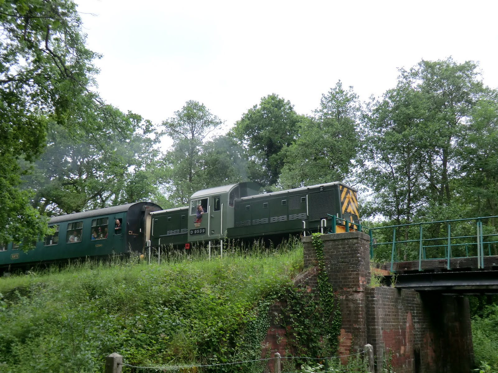 CIMG8564 A diesel-hauled SVR train passes Friezland Wood