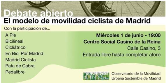 El OMUSM debate sobre el modelo de movilidad ciclista de Madrid - 1 de junio de 2016