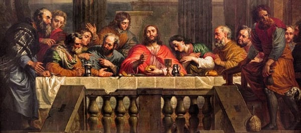 The Last Supper painted by Jan Erasmus Quellinus(1634-1715)-Renata Sedmakova / Shutterstock.com