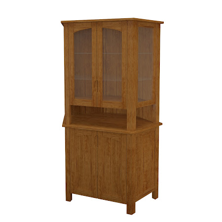 Luxor Corner Cabinet in Como Maple
