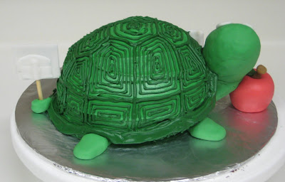 3D Turtle Cake - Back View