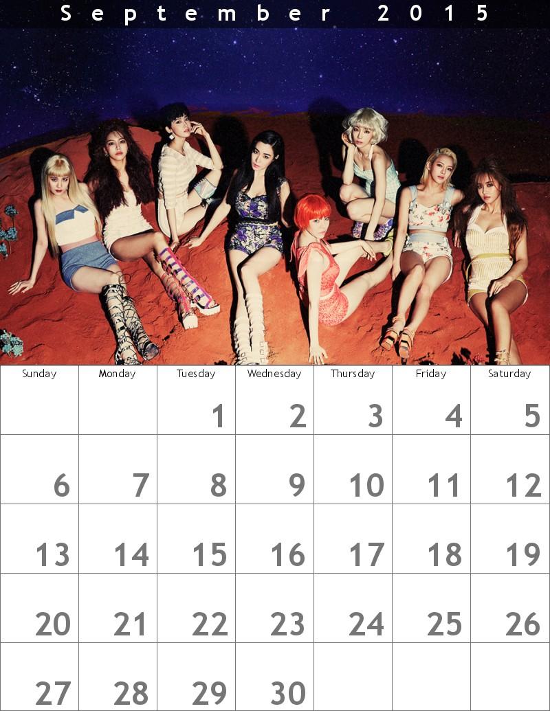 youthinkの少女時代カレンダー0915